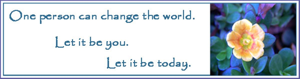 one person can change the world essay Originally answered: can a single person change the world absolutely there are millions of fantastic examples to answer this question, but here is one of my personal favorites.